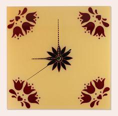 Kézzel festett üvegóra - Tulipános Magic, Glass, Home Decor, Tulips, Decoration Home, Drinkware, Room Decor, Corning Glass, Home Interior Design