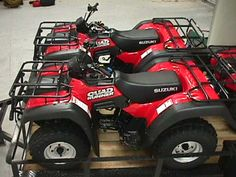 2000 Suzuki 250 Quadrunners. Bought three and a trailer to replace the
