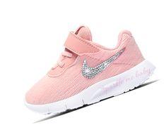 18649b28c85b8 Nike Tanjun Toddler Rust Pink ~ Bedazzled Nike ~ Blinged Nikes ~ Rhinestone  Nike ~ Swarovski Nikes ~ Customized by SparkleMeBaby2u