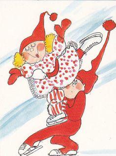 Virpi Pekkala Vintage Christmas, Christmas Cards, Baumgarten, Sarah Kay, Happy Smile, Whimsical Art, Elves, Gnomes, Finland