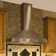 Vent-A-Hood Wall Mount Range Hood with 600 CFM Internal Blower & Halogen Lighting: 36 Inch Wide Kitchen Exhaust, Kitchen Hoods, Kitchen Backsplash, Kitchen Ranges, Kitchen Walls, Kitchen Appliances, Kitchen Cabinets, Kitchen Ventilation, Ventilation Hood