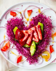 Strawberries + Avocado: Pink Heart Salad. - Healthy. Happy. Life.