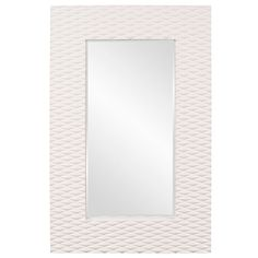 Talida White Rectangle Mirror Howard Elliott Collection Rectangle Mirrors Home Decor