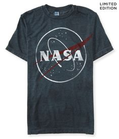 Nasa Aeropostale NASA Graphic T-Shirt - Buy Aeropostale NASA Graphic T-Shirt This t-shirt is Made To Order, one by one printed so we can control the quality. We use newest DTG Technology to print on to Aeropostale NASA Graphic T-Shirt. Aeropostale, Ripped Shirts, Men's Shirts, Destroyed T Shirt, Nasa Clothes, Diy Clothes, Grey Shirt Dress, Gray Dress, Shorts