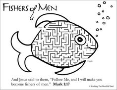 Fishers of Men\' Printable (Matthew 4:19 | Fisher, Sunday school and ...