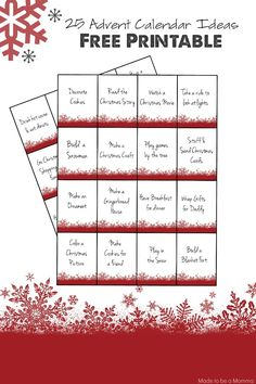 Advent Calendar Printables These Christmas Advent Calendar Ideas are perfect for kids and adults alike! Here's to making some special memories this holiday season! Advent Calendar Christian, Adult Advent Calendar, Advent Calendar Activities, Advent Calendars For Kids, Kids Calendar, Advent Calenders, Christmas Advent Calendars, Calendar Ideas For Kids To Make, Advent Calendar Ideas For Adults