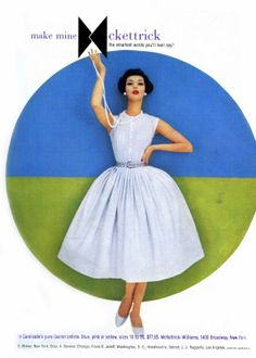 """50's style full dress  Pic comes from """"50's Fashion Style"""" book"""