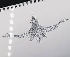 Resultado de imagem para lotus sternum tattoo