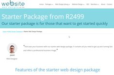 Your website is a powerful marketing tool. Get your business online by signing up to our starter web design package. We create 3 pages for you to showcase your business and then optimise these pages on search engines so that you can attract new clients. Web Seo, Web Design Packages, Website Web, Web Design Company, Up And Running, Marketing Tools, Starting A Business, Search Engine, Get Started