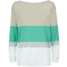 c5018a9020 Armani Jeans Lurex Stripe Jumper found on Polyvore Sweater Jacket