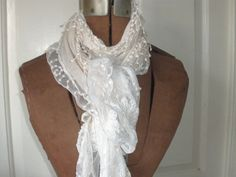 long lacy ivory scarf new by BraytonCottage on Etsy, $28.00
