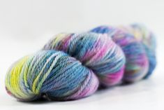 100gms (3.5oz) of 100% pure NZ wool. Wooly Good 8-ply is your classic wool yarn. Strong, sturdy & warm, it would make great hats & scarfs. Dark side of a Unicorn contains bright Unicorn tones with dark specks of black because unicorns aren't all sunshine & candy; they can be real jerks, mocking horses because they lack the majestic horn. 100 Pure, Wool Yarn, Unicorns, Scarfs, Dark Side, Horn, Indie, Sunshine, Strong