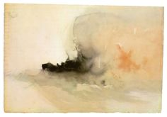 Joseph Mallord William Turner - Brennendes Schiff, Aquarell, ca. Joseph Mallord William Turner, Turner Painting, Painting & Drawing, Watercolor Landscape Paintings, Watercolor And Ink, Monet, Edward Elgar, Turner Artworks, Art Romantique