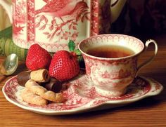 Pretty Bird Afternoon Tea Cup & Scone Saucer from Victorian Trading Co.