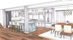 open concept split-level house plan -ranch | Open-concept living
