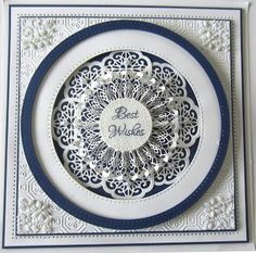 PartiCraft (Participate In Craft): Framed Rosette Card - using Atlas striplet die - with video tutorial - July 2016 50th Birthday Cards, Masculine Birthday Cards, Card Making Inspiration, Making Ideas, Inspiration Cards, Spellbinders Cards, Card Companies, Beautiful Handmade Cards, Thing 1