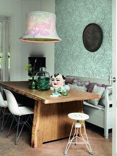 Behang turquoise print Feel Good - BN Wallcoverings