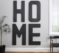 Oversized Hanging Letters, I like this idea for the wall behind our couch (if facing fireplace)