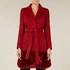 Helene Berman | Helene Berman Double Breasted Coat in Burgundy ...