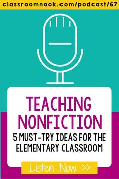 If you're teaching nonfiction reading skills to your upper elementary grade students then you must listen to this new podcast all about the best teaching tips and lesson ideas! Listen and learn the 5 must-try ideas for teaching nonfiction in the elementary classroom now. Get tips for teaching nonfiction text features, comprehension strategies, text structure, fact & opinion, and MORE. Get access to a FREE Nonfiction Linktivity resource to try with your 3rd, 4th, & 5th grade students. New Vocabulary Words, Vocabulary Practice, Third Grade Reading, Student Reading, Nonfiction Text Features, Reading Comprehension Strategies, Readers Workshop, Reading Skills, Upper Elementary