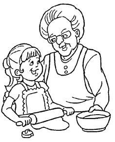 Opa en oma kleurplaten