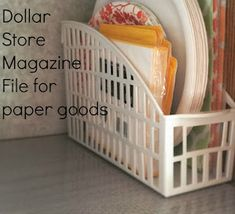 100 Dollar Store Kitchen Organization Ideas - Prudent Penny Pincher Organize your kitchen for cheap with these dollar store kitchen organization ideas. From DIY spice racks to pan storage hacks, there are pleny of ideas here Small Kitchen Organization, Diy Kitchen Storage, Diy Storage, Diy Organization, Storage Ideas, Kitchen Organizers, Storage Hacks, Dollar Store Organization, Trailer Organization