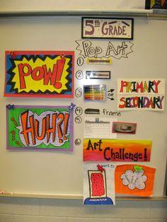 Jamestown Elementary Art Blog: 5th Grade Roy Lichtenstein Pop Art Words