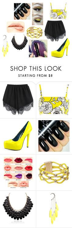 """Yellow"" by madison-janetx on Polyvore featuring River Island, Mia Limited Edition, Etcetera, NYX, Anni Jürgenson, women's clothing, women, female, woman and misses"