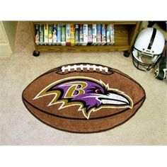 Baltimore Ravens Football Floor Rug Mat. C.F.