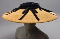 Elegant... #millinery #hat #straw #velvet #fashion #costume #vintage #1950s