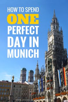 How to spend one perfect day in Munich. Bavaria's capital has so many highlights. Learn what to see and what to do in Munich. Click for more information and plan your perfect itinerary.