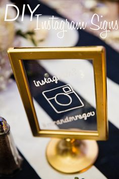 DIY Wedding Instagram Signs Instagram Wedding Sign, Instagram Sign, Framed Table Numbers, Dyi, Easy Diy, Diy Frame, Diy Tutorial, Diy Wedding, Baby Shower