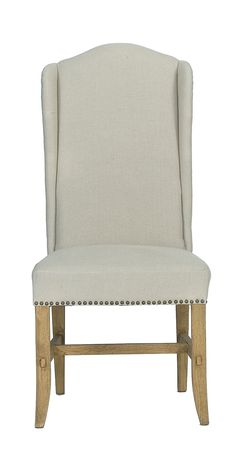 high back dining chairs (set of 2) from living in linen: furniture