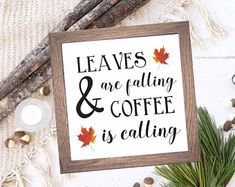Check out our printable wall art selection for the very best in unique or custom, handmade pieces from our shops. Fall Home Decor, Autumn Home, Printable Designs, Printable Wall Art, Coffee Wall Art, Coffee Bar Signs, Autumn Coffee, Fall Signs, Coffee Lover Gifts