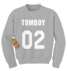 Crewneck Tomboy 02 Long Sleeve Sweatshirt 1190 from $15.99 at xpressiontees.etsy.com | #ExpressionTees