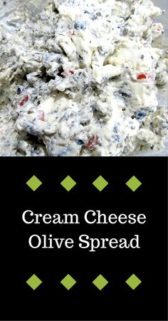cream cheese olive spread. Takes like 5 minutes to make - but make a lot because people will eat it.