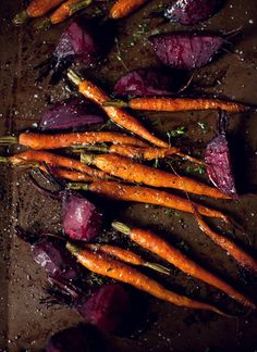Roasted carrots and beets.