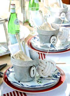 4th Of July Celebration, 4th Of July Party, Fourth Of July, Nautical Table, Nautical Party, Nautical Wedding, Wedding Set, Chic Wedding, Dresser La Table