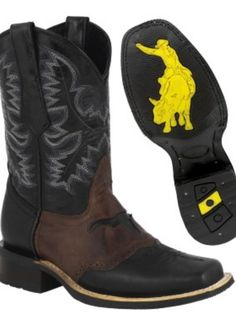 5b3662e1b4 Mens Square Toe Cowboy Boots Black Genuine Leather Rodeo Riding Western  Botas