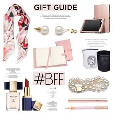 """""""Gift Guide: Work BFF"""" by pearlparadise ❤ liked on Polyvore featuring Roberto Cavalli, Estée Lauder, StyleNanda, Royce Leather, Diptyque, Tom Dixon, giftguide, contestentry, pearljewelry and pearlparadise"""