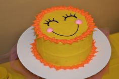 You are my sunshine smash cake