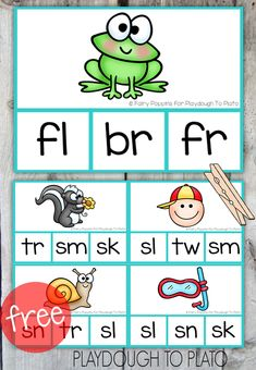 Free Blend Clip Cards! Fun guided reading activity, literacy center or morning work for kids. Great way to teach blends!