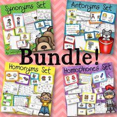 Bundle synonyms, antonyms, homonyms, and homophones