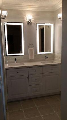 Best Bathroom Light Bulbs for Makeup. 20 Best Bathroom Light Bulbs for Makeup. Vanity Lighting Makeover with Ge Reveal Light Bulbs Backlit Bathroom Mirror, Best Bathroom Lighting, Silver Bathroom, Led Mirror, Bathroom Hanging Lights, Frameless Mirror, Mirror Set, Simple Bathroom, Master Bathroom