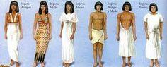 vestuario egipcio hombre y mujer
