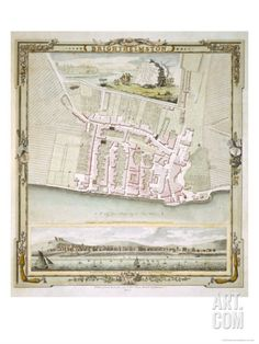 Map of Brighton by Thomas Yeakell and William Gardner, Engraved by Whitchurch, 1779 Giclee Print at Art.co.uk