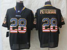 2014 New Nike Minnesota Vikings 28 Peterson USA Flag Fashion Black Elite Jerseyscheap nfl jerseys,cheap mlb jerseys from cheapnflshop. Jersey Fashion, Fan Store, Nike Nfl, Custom Printed Shirts, Nfl Jerseys, Minnesota Vikings, Usa Flag, Fashion Black, Free Shipping