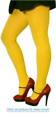 93a6eff086f Choose Among Five Vibrant Colors in Opaque Fashion Tights by Foot Traffic  in Yellow