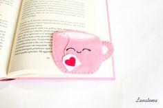 Tea Cup voelde in hoek bladwijzer bladwijzer roze Cup door Lanatema