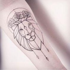 Image result for geometric lion tattoo                                                                                                                                                                                 Plus